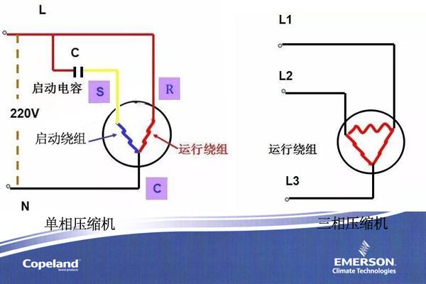 单相三线空调电路图